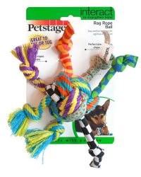 Zabawki - Petstages Piłka szmaciana ze sznurkami