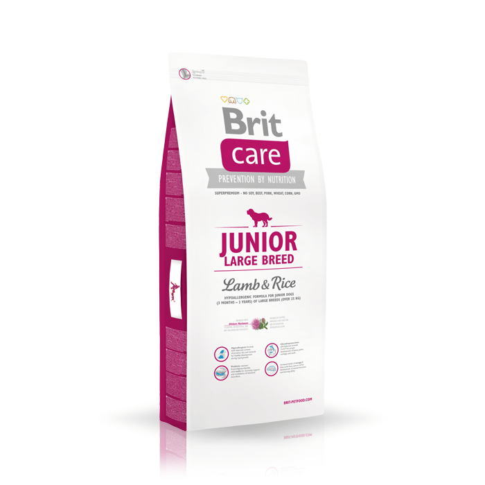 Karmy suche dla psa - Brit Care Junior Large Breed Lamb & Rice