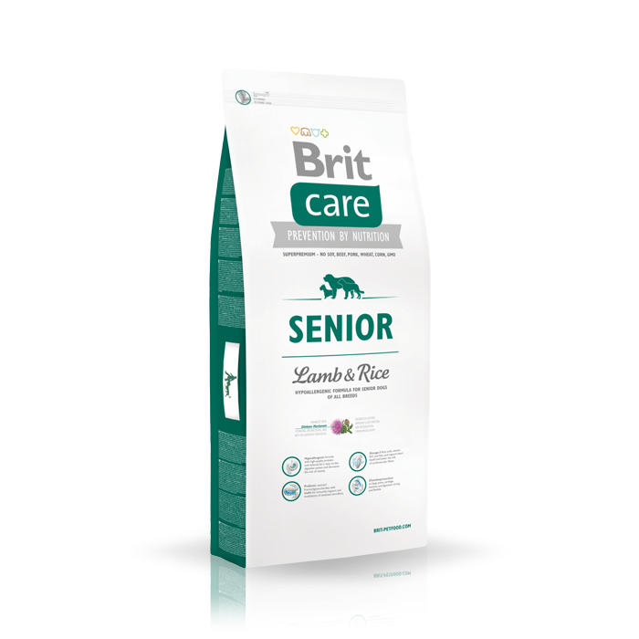 Karmy suche dla psa - Brit Care Senior Lamb & Rice
