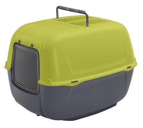 Kuwety, łopatki dla kota - Ferplast Prima Toaleta + łopatka zielona 39,5 x 52,5 x 38cm