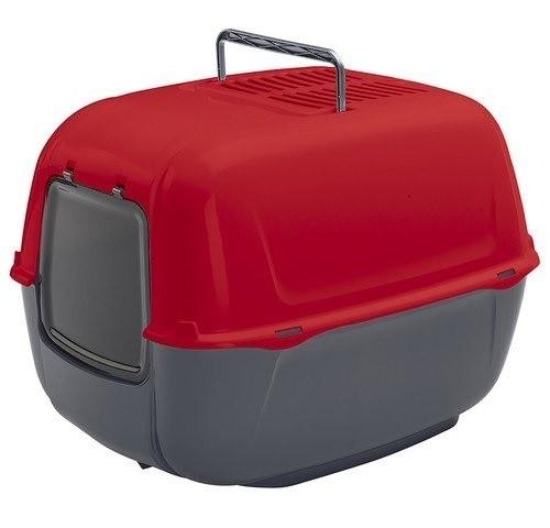 Kuwety, łopatki dla kota - Ferplast Prima Toaleta + łopatka czerwona 39,5 x 52,5 x 38cm