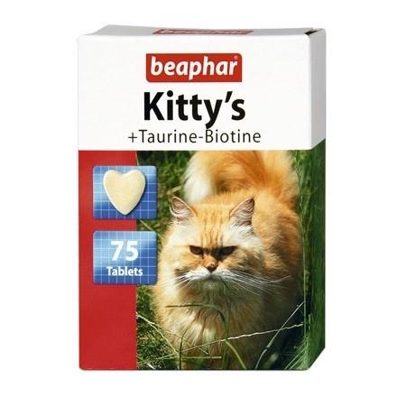 Suplementy - Beaphar Kitty's Tauryna i Biotyna 75 tabl.