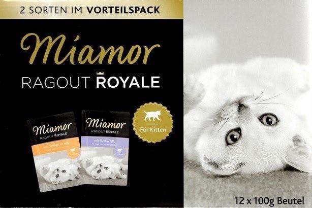 Karmy mokre dla kota - Miamor Ragout Royale Kitten Mix w galaretce 12x100g