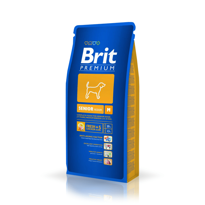 Karmy suche dla psa - Brit Premium Senior Medium