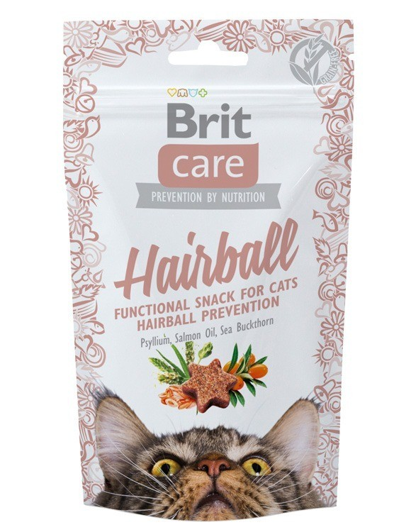 Przysmaki dla kota - Brit Care Cat Snack Hairball 50g