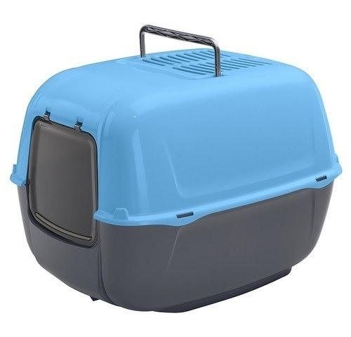 Kuwety, łopatki dla kota - Ferplast Prima Toaleta + łopatka niebieska 39,5 x 52,5 x 38cm