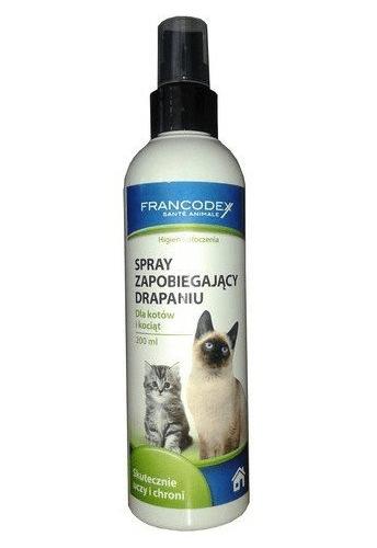 Produkty higieniczne - Francodex Spray repelent przeciw drapaniu dla kotów 200ml