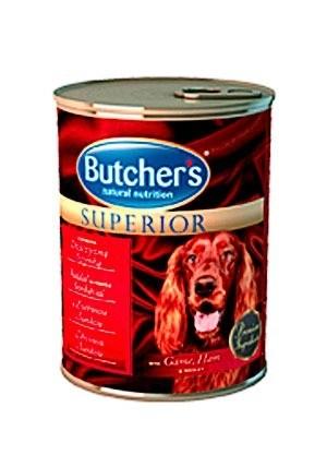 Karmy mokre dla psa - Butchers Superior zapiekana dziczyzna szynka 6x400g