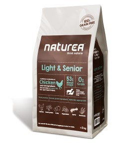 Karmy suche dla psa - Naturea Grain Free Light & Senior