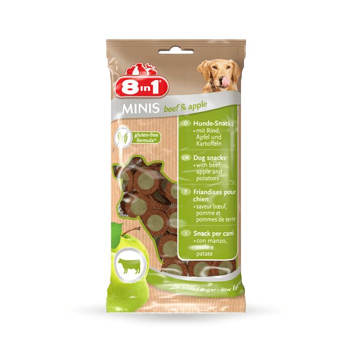 Przysmaki dla psa - 8in1 Minis beef & apple - wołowina z jabłkiem 100g