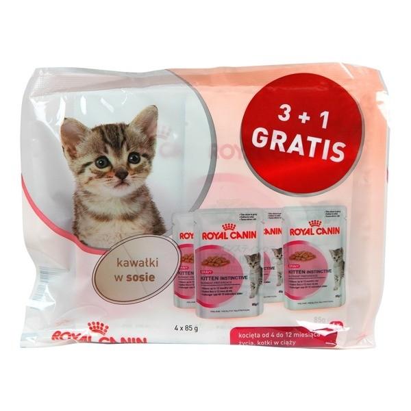 Karmy mokre dla kota - Royal Canin Kitten Instinctive w sosie 85g 3+1 GRATIS