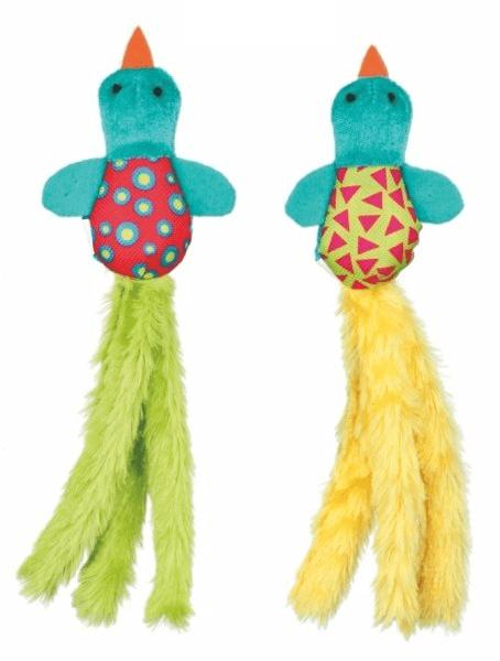 Zabawki - Trixie Pluszowy ptak z grzechotką 9cm