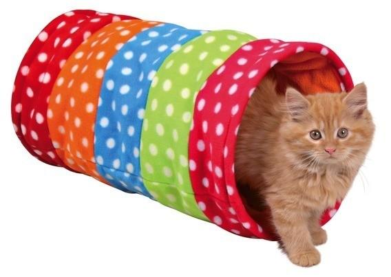 Drapaki, tunele dla kota - Trixie Tunel kolorowy dla kota 60cm
