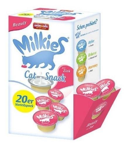 Przysmaki dla kota - Animonda Kot Milkies Beauty z cynkiem 20x15g