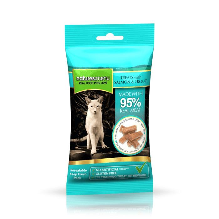 Przysmaki dla kota - Natures Menu przysmak dla kota łosoś pstrąg 60g