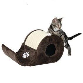 Drapaki, tunele dla kota - Trixie Drapak falisty beżowo brązowy Elda