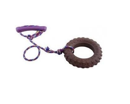 Zabawki - Sum-plast sznur z oponą dla małego psa