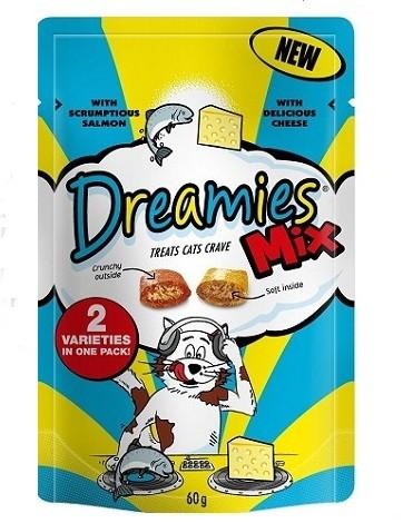 Przysmaki dla kota - Dreamies przysmak dla kota 60g  mix ser+łosoś