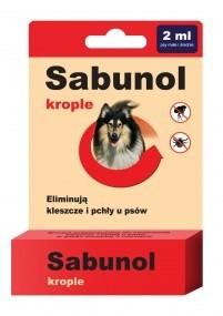 Preparaty lecznicze - Sabunol Krople na pchły i kleszcze dla średnich psów 2ml