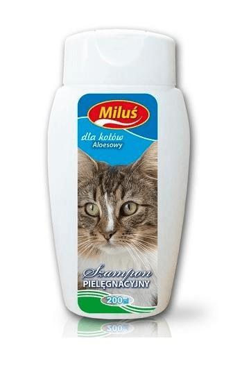 Higiena, pielęgnacja sierści - Miluś szampon aloesowy dla kota 200ml