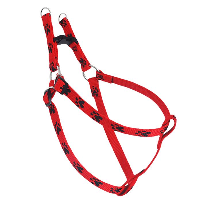 Smycze, obroże, szelki - Chaba Szelki regulowane łapki czerwono czarne
