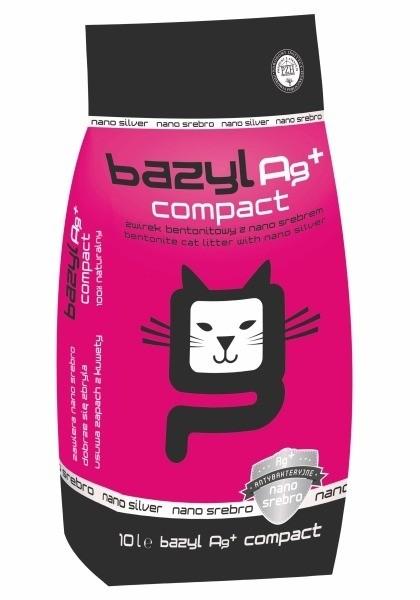 żwirek dla kota - Żwirek Bazyl Ag+ Compact 10l