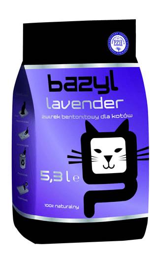 żwirek dla kota - Żwirek Bazyl Lawendowy
