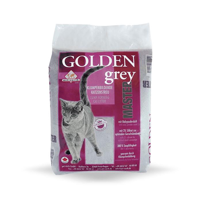 żwirek dla kota - Żwirek Golden Grey Master z silikatem