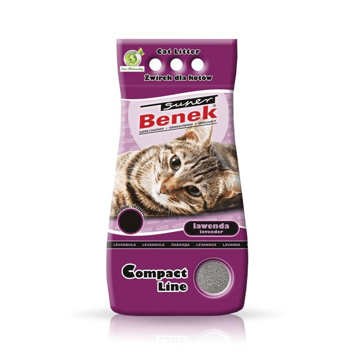 żwirek dla kota - Żwirek Super Benek Compact Lawenda