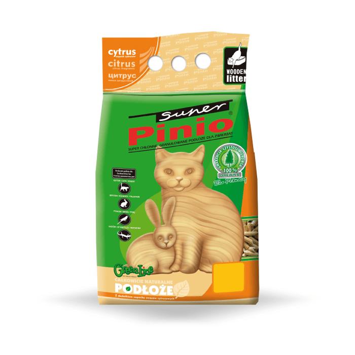 żwirek dla kota - Żwirek Super Benek Pinio Cytrus