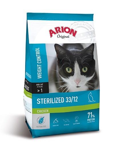 Karmy suche dla kota - Arion Original Cat Sterilized Chicken