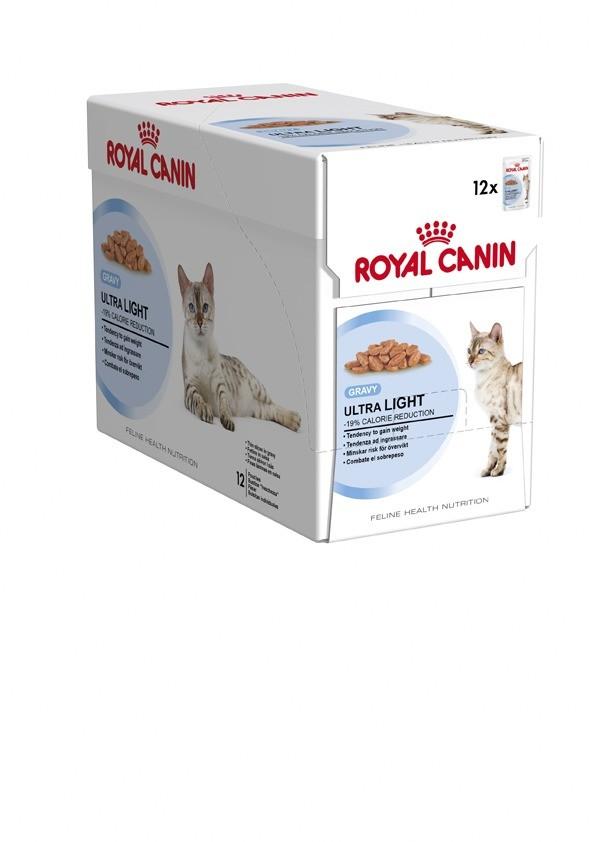 Karmy mokre dla kota - Royal Canin Feline Ultra Light w galaretce 12x85g saszetka