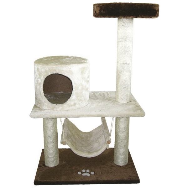 Drapaki, tunele dla kota - Yarro Drapak Comfort beżowo-brązowy