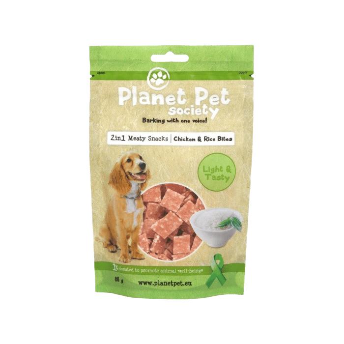 Przysmaki dla psa - Planet Pet Society chicken rice bites 80g