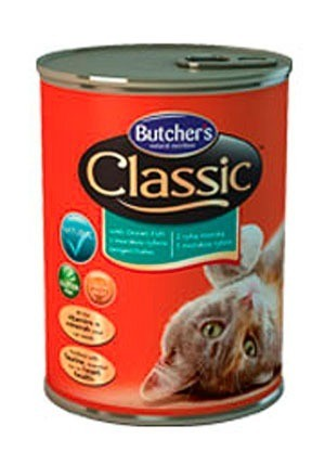 Karmy mokre dla kota - Butchers Classic ryba morska 4x400g