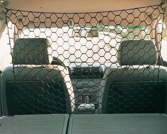 Transportery, sprzęt podróżny - Trixie Siatka odgradzająca do samochodu 100cm x 100cm
