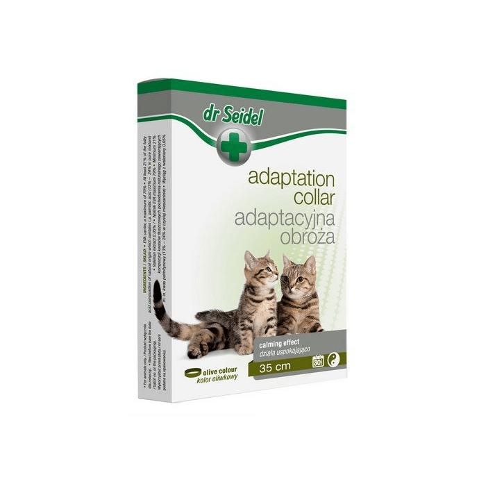 Smycze, obroże, szelki - Dr Seidel Obroża adaptacyjna dla kotów 35cm