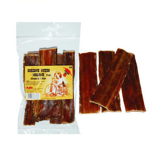 Przysmaki dla psa - AdBi Suszone mięso wołowe 5szt. 100g
