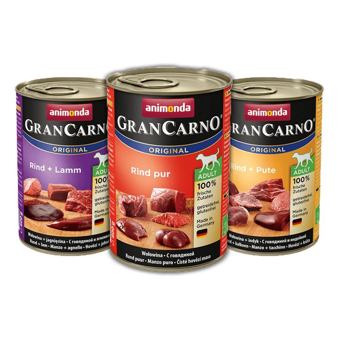 Karmy mokre dla psa - Animonda GranCarno Original Adult mix 3 smaków 400g x 24