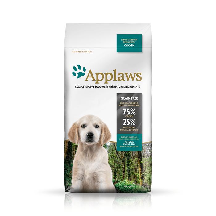 Karmy suche dla psa - Applaws Puppy Small & Medium z kurczakiem