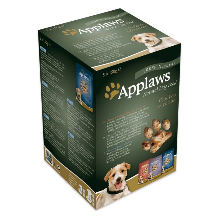 Karmy mokre dla psa - Applaws Dog saszetka Multipak Mixed Chicken selection 5x150g