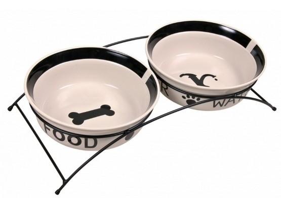 Miski i akcesoria do misek - Trixie Miski ceramiczne na stojaku