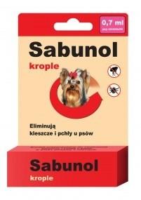 Preparaty lecznicze - Sabunol Krople przeciw pchłom i kleszczom dla Yorków 0,7ml