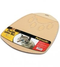 Kuwety, łopatki dla kota - Petmate Mata Flexible beżowa przed kuwetę