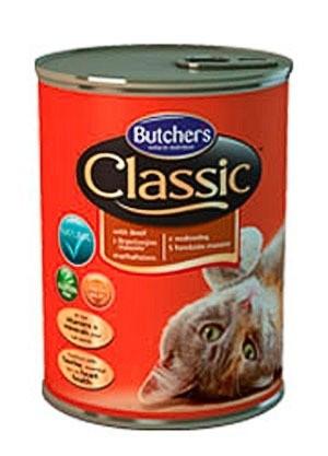 Karmy mokre dla kota - Butchers Classic wołowina 4x400g