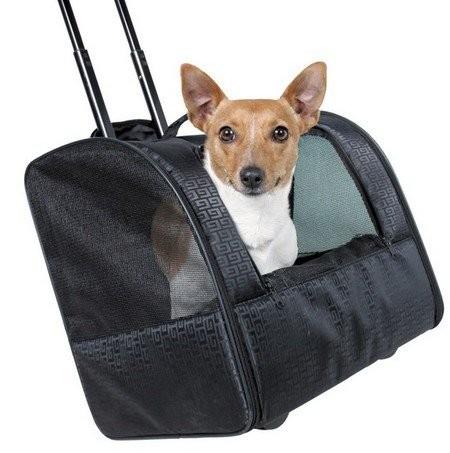 Transportery, sprzęt podróżny - Trixie Torba na kółkach dla psa 44 x 30 x 40cm