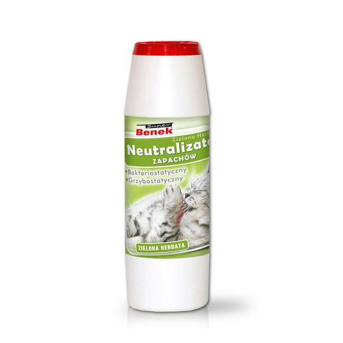 Kuwety, łopatki dla kota - Benek Neutralizator - Odkażacz zielona herbata 500g