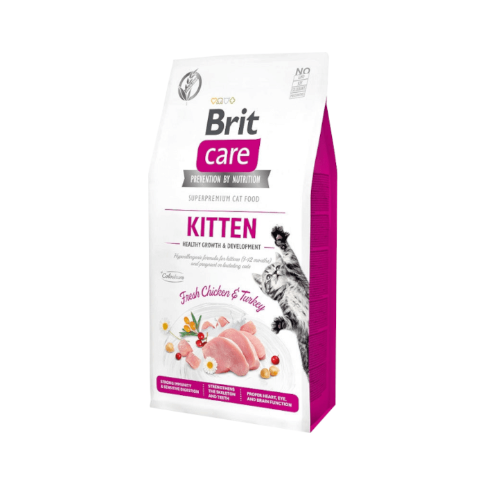 Karmy suche dla kota - Brit Care Cat Grain-free Kitten Healthy Growth & Development
