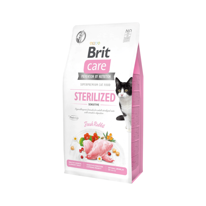 Karmy suche dla kota - Brit Care Cat Grain-free Sterilized Sensitive