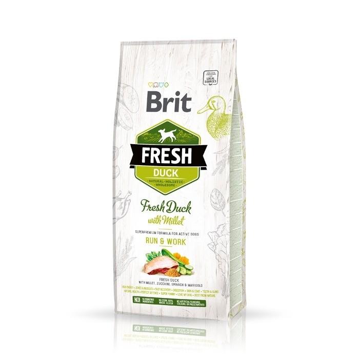 Karmy suche dla psa - Brit Fresh Duck with Millet Active Run & Work